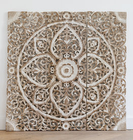 Simply Pure Hand carved wall panel LOTO white