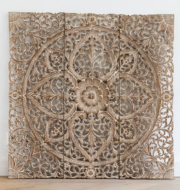 Simply Pure Hand carved wall panel LOTO white - Copy - Copy - Copy