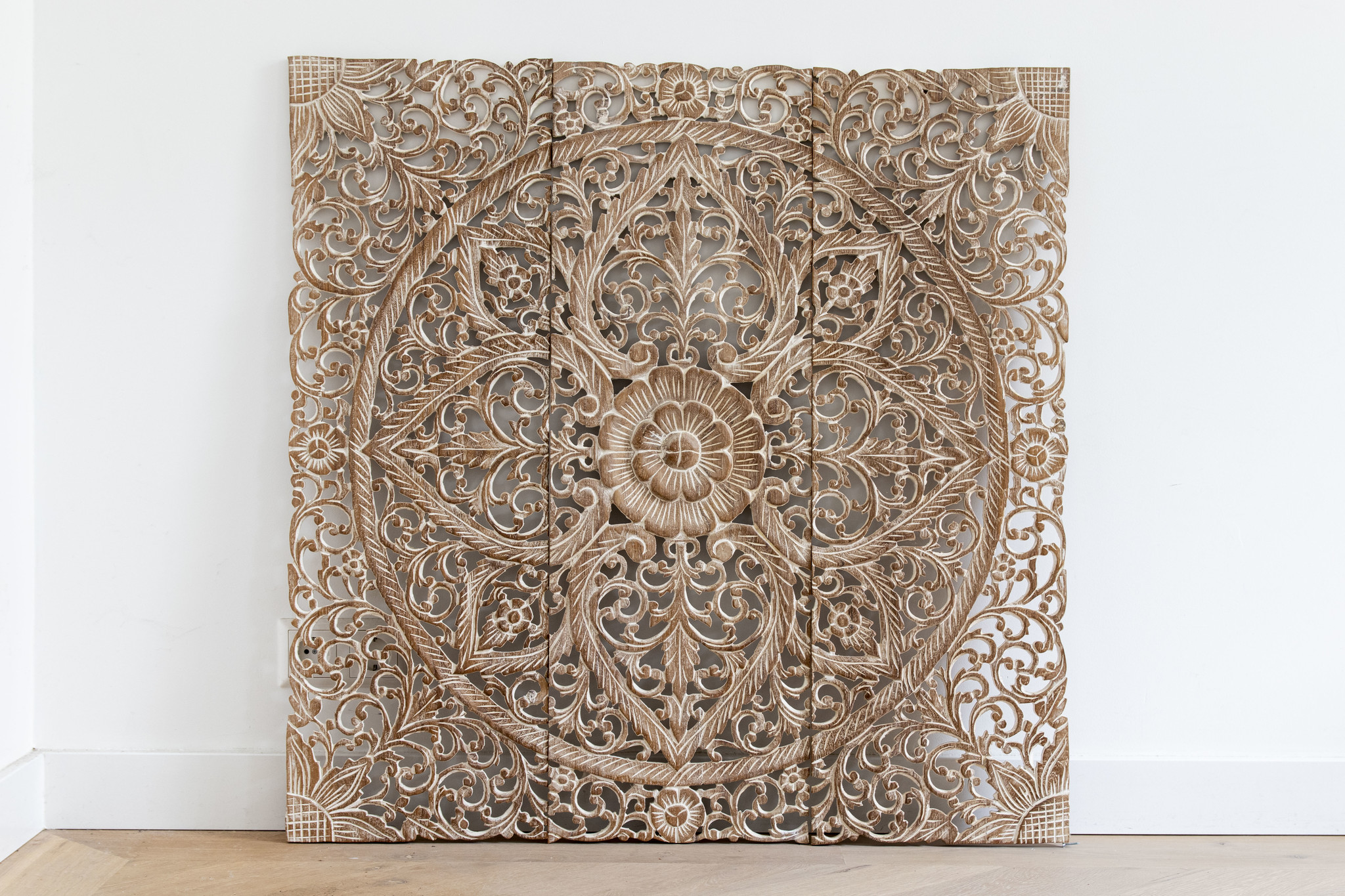 Simply Pure Hand carved wall panel Design LOTO white , several sizes - Copy - Copy - Copy