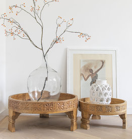 Simply Pure Hand carved Indian Chakki tables natural