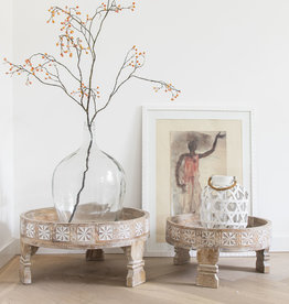 Simply Pure Hand carved Indian Chakki tables - Copy