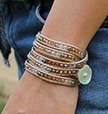 simply pure Wikkelarmband CRYSTAL MIX Beige
