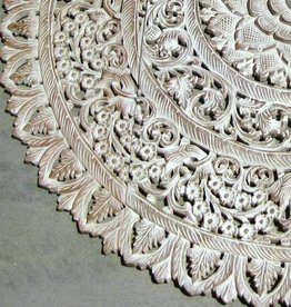 simply pure Hand carved wall panel LOTO RONDO