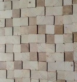 Wandpanele aus Holz Design QUADRINO PINE Kleur: Naturmix / Verschiedene Abmessungen