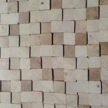 simply pure Wandpanele aus Holz Design QUADRINO PINE Kleur: Naturmix / Verschiedene Abmessungen