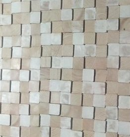 simply pure Houten wandpaneel Design QUADRINO PINE Kleur: White Mix / Verschillende afmetingen