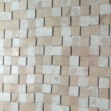 Houten wandpaneel Design Quadrino Kleur: White Mix