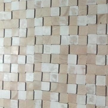 simply pure Wandpanele aus Holz Design QUADRINO PINE Kleur: White mix / Verschiedene Abmessungen