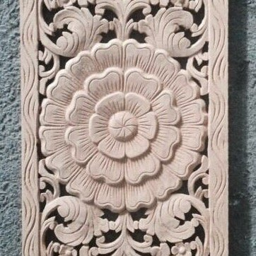simply pure Hand carved wall panel LOTO LUNGO | Different colors and sizes available
