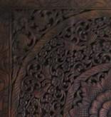 simply pure Houtsnijwerk wandpaneel Design LOTO Kleur: Donkerbruin, verschillende afmetingen