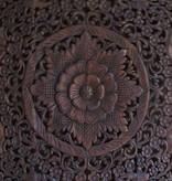 simply pure Handgeschnitzte Wandpaneele LOTO dunkelbraun, verschiedene Abmessungen