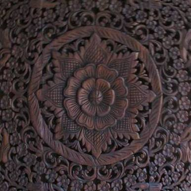 simply pure Hand carved wall panel Design LOTO dark brown , different sizes available