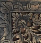 Geschnitzte Wandpanele LOTO antikschwarz, verschiedene Abmessungen