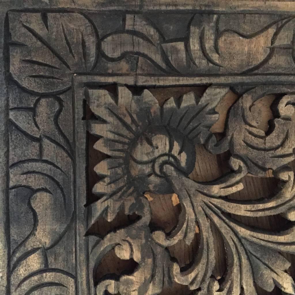 Houtsnijwerk wandpaneel  LOTO antiek zwart, verschillende afmetingen