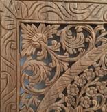Simply Pure Handgeschnitzte Wandpaneele Design LOTO Farbe: Naturteak, verschiedene Abmessungen