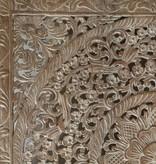 Handgeschnitztes Wandpaneel Design LOTO whitewash, verschiedene Abmessungen