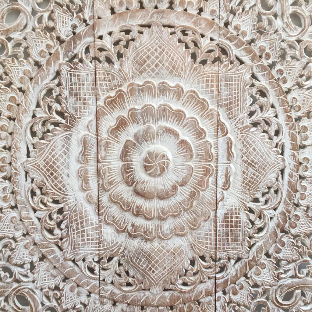 simply pure Handgeschnitzte Wandpaneele Design LOTO Farbe: Between White, verschiedene Abmessungen