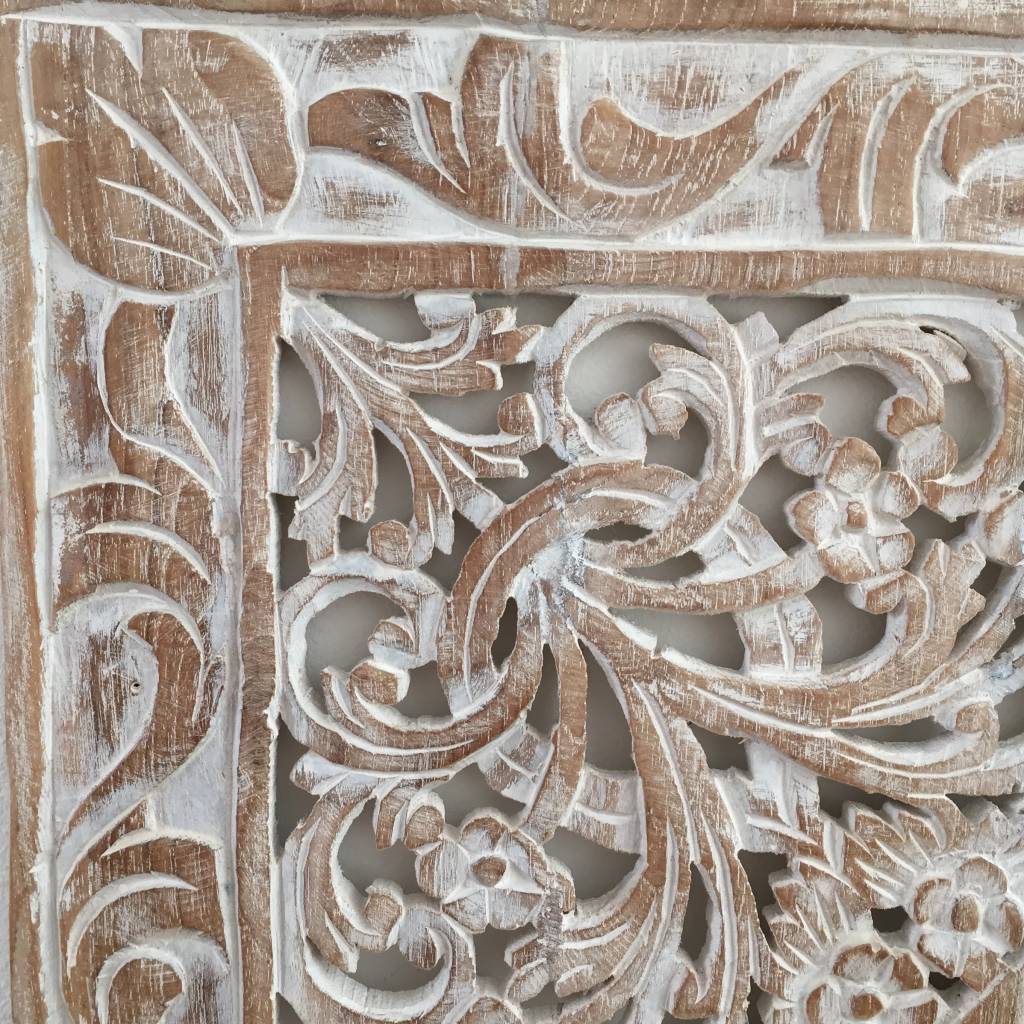 Hand carved wall panel Design LOTO between white, different sizes available