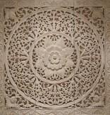 Handgeschnitzte Wandpanele Design LOTO Farbe: antikweiss, verschiedene Abmessungen