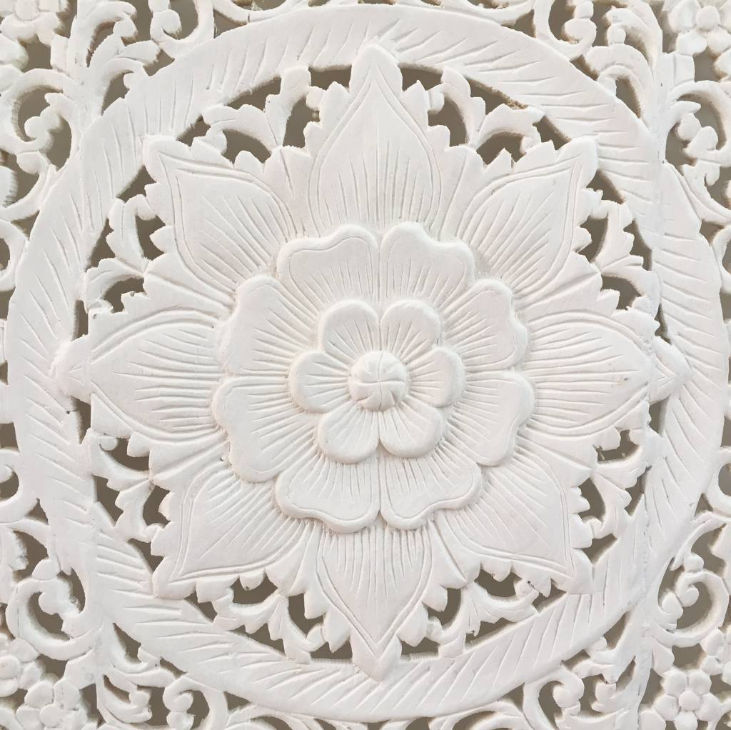 Hand carved wall panel Design LOTO white , several sizes