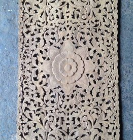 Hand carved wall panel LOTO RETTANGOLO