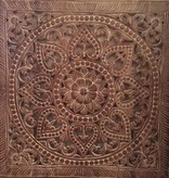 Hand carved wall panel Design SOLE whitewash, several sizes