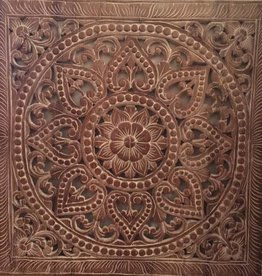 simply pure Hand carved wall panel Design SOLINO dark brown