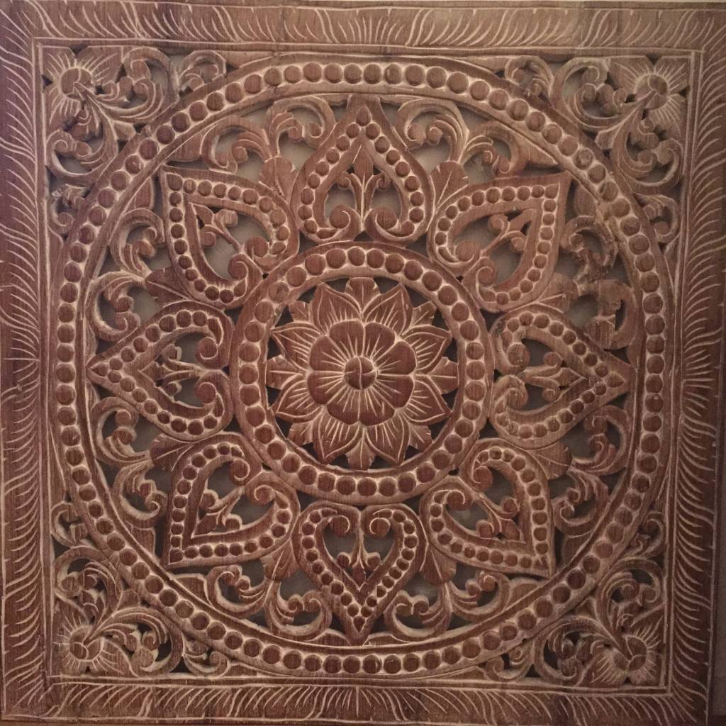Simply Pure Hand carved wall panel Design SOLINO, dark braun, several sizes - Copy