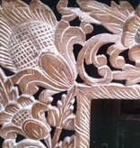 simply pure Handgeschnitzter Spiegelrahmen aus Teakholz, verschiedene Abmessungen und Farben