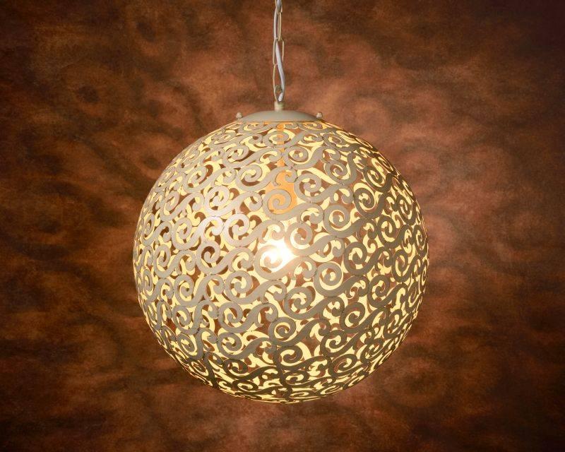 Hanglamp ORIENTE Kleur: Antiek Wit / Dia 40 cm