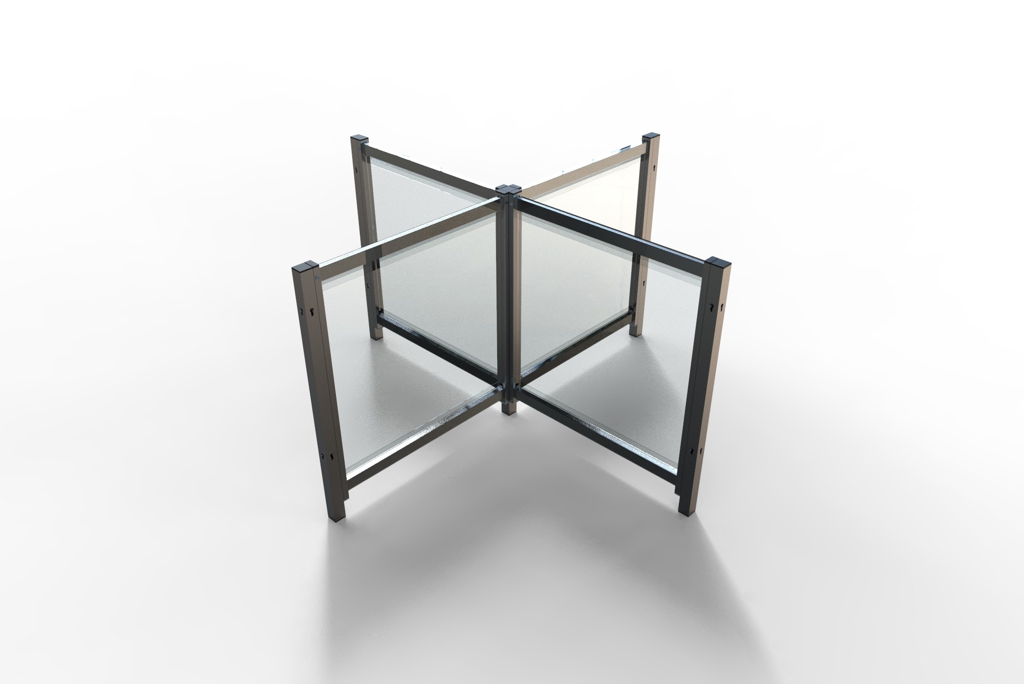Scheidingsscherm Model Desk