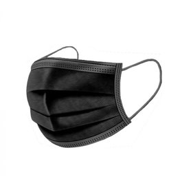 Zwart niet medisch mondmasker - 50 stuks