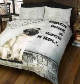 Doghouse Designs Mopshond Dekbedovertrek 200x200