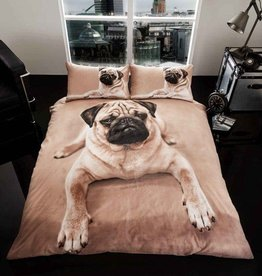 Wild@Heart Pug Hond 3D Dekbedovertrek