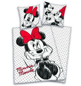 Disney Minnie Mouse Dekbedovertrek Zwart Wit 140 x 200cm
