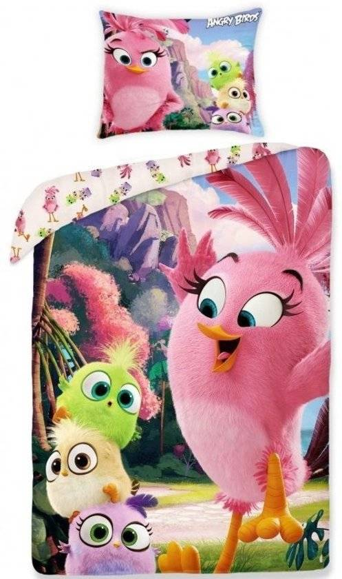 Angry Birds Angry Birds Dekbedovertrek Pink