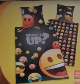 Emoji Dekbedovertrek What's Up