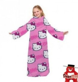 Hello Kitty Fleece Deken met Mouwen