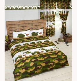 Camouflage Legerkamp Tweepersoons Dekbedovertrek