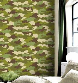 Camouflage Behang