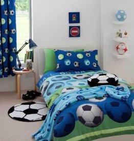 Catharine Lansfield Voetbal Tweepersoons Dekbedovertrek Blauw
