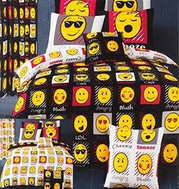 Emoji Dekbedovertrek Expressions Zwart