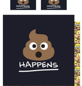 Emoji Tweepersoons Dekbedovertrek Drol