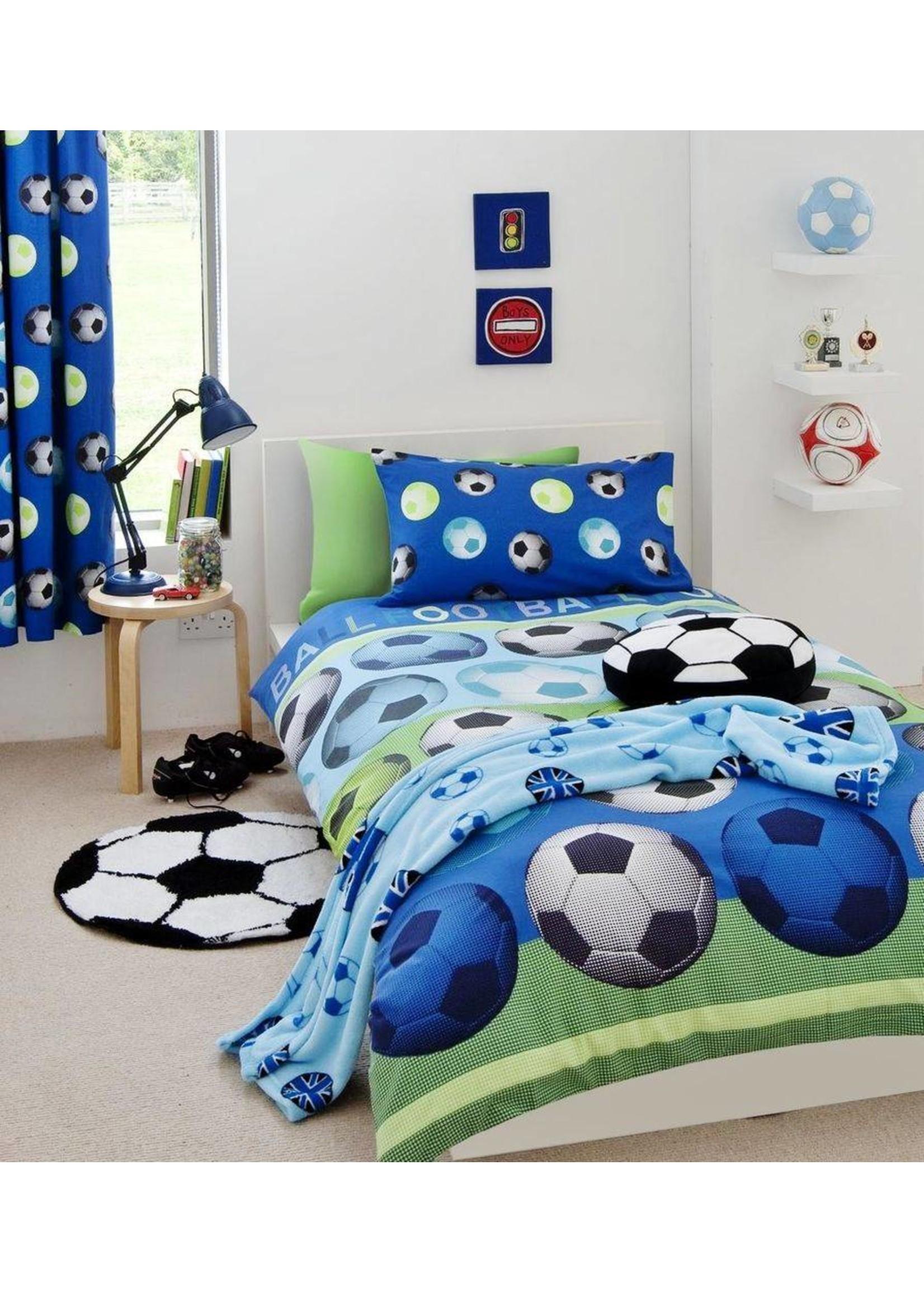 Catharine Lansfield Voetbal Gordijn Blauw