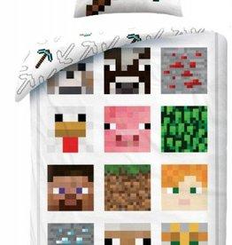 Minecraft Dekbedovertrek Wit