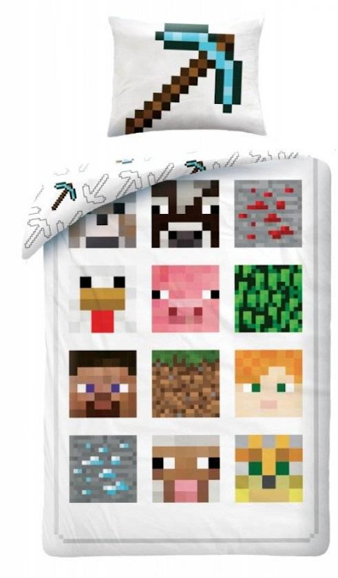 Minecraft Minecraft Dekbedovertrek Wit