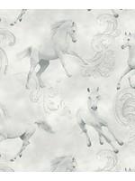 Arthouse Camarillo Horse Grey Glitter Wallpaper