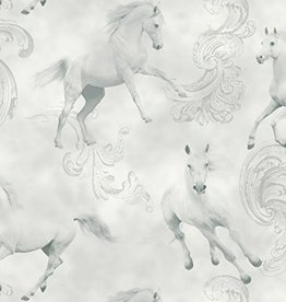 Camarillo Horse Grey Glitter Wallpaper