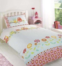 Duvet Cover Owls and Flowers
