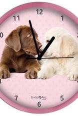 Studio Pets Labrador Hond Roze Klok